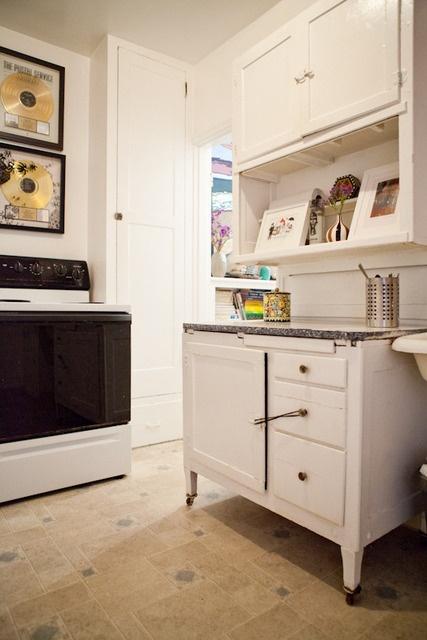 Joan S Artist Abode Hoosier Cabinet Vintage Metal And