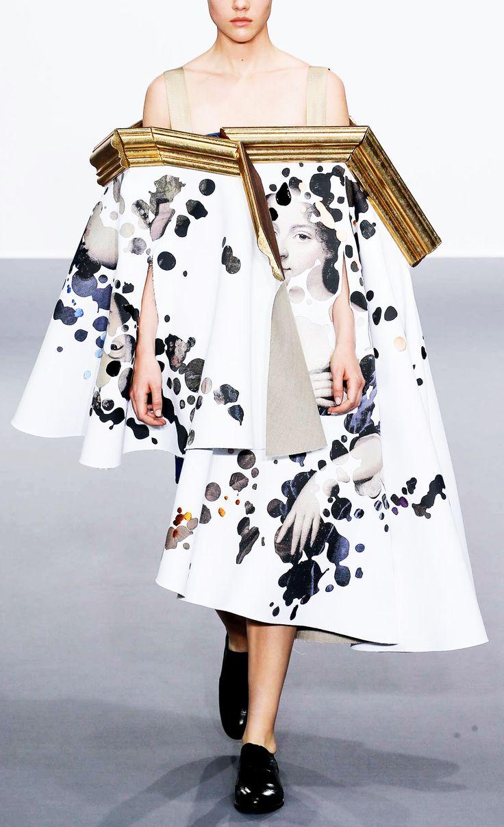 Wearable Art dress suspended from a broken frame; sculptural fashion // Viktor & Rolf Fall 2015