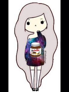 Girl With Nutella shirt Chibi