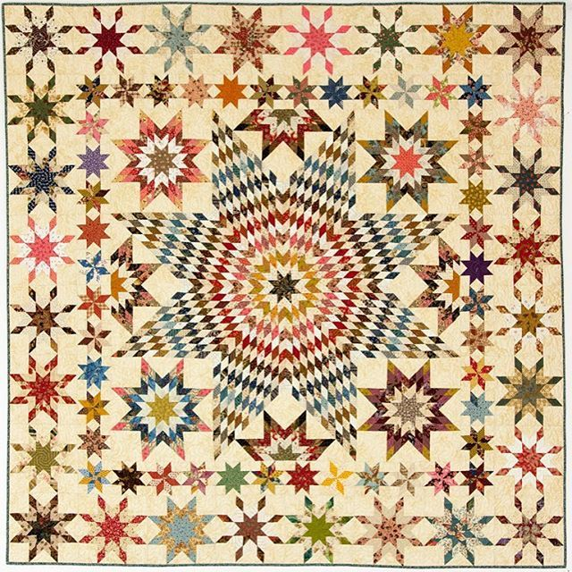 """Laundry Basket Quilt of the Day - """"Let it Shine"""" (from our Handfuls of Scraps…"""