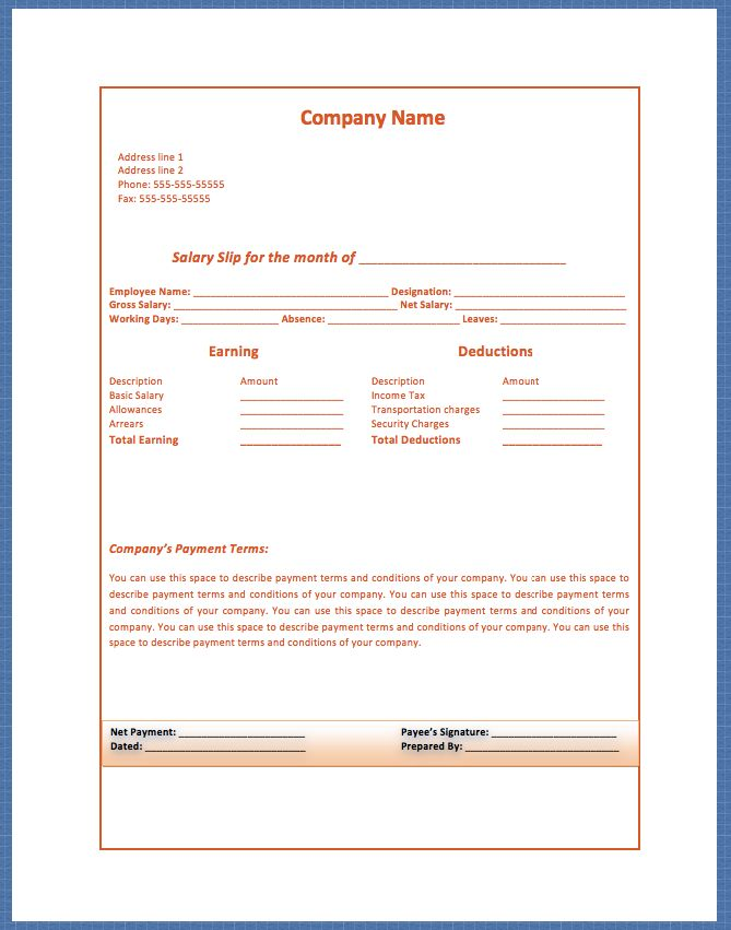 Salary Invoice Template Generic Invoice Is Commonly Known To Be An