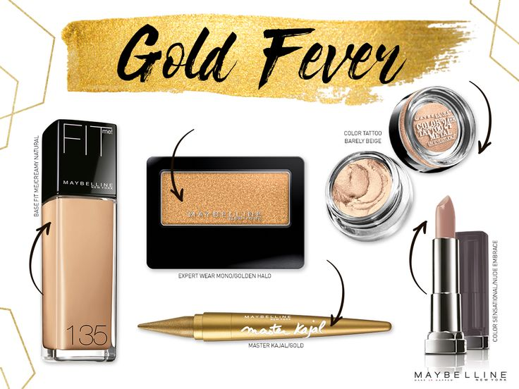 - Fit Me Creamy Natural - Expert Wear MonoGolden Halo - Master Kajal Gold - Color Tattoo Barely Beige - Color Sensational Nude EMbrace
