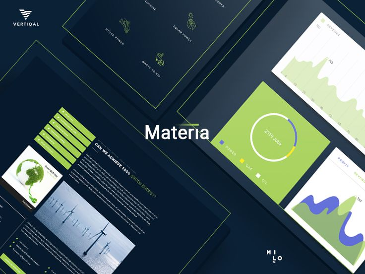 Materia - Green Energy - Pack HTML5 & CSS3 Template by Milo Themes