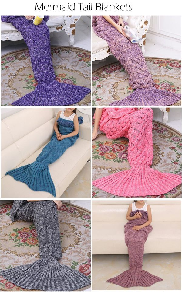 Mermaid Tail Blankets For Adults and Kids                                                                                                                                                                                 More