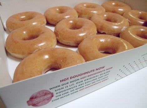 Krispy Kreme Doughnuts. A Southern staple. My grandmother in Florida introduced me to Krispy Kreme 40 years ago.