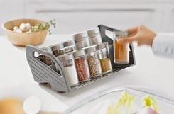 Spice Trays organize your spices in your drawer, and can be pulled out to use on the counter, they can even hold the costco sized spices!