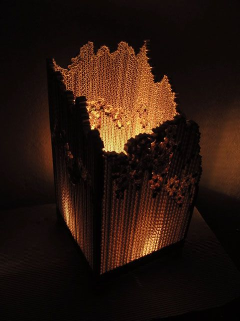lampe carton appr ci s pinterest carton lampes et luminaires. Black Bedroom Furniture Sets. Home Design Ideas