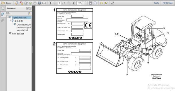 Volvo L35b Compact Wheel Loader Service Parts Catalogue Manual Parts Catalog Instant Download Pdf Pdf Download