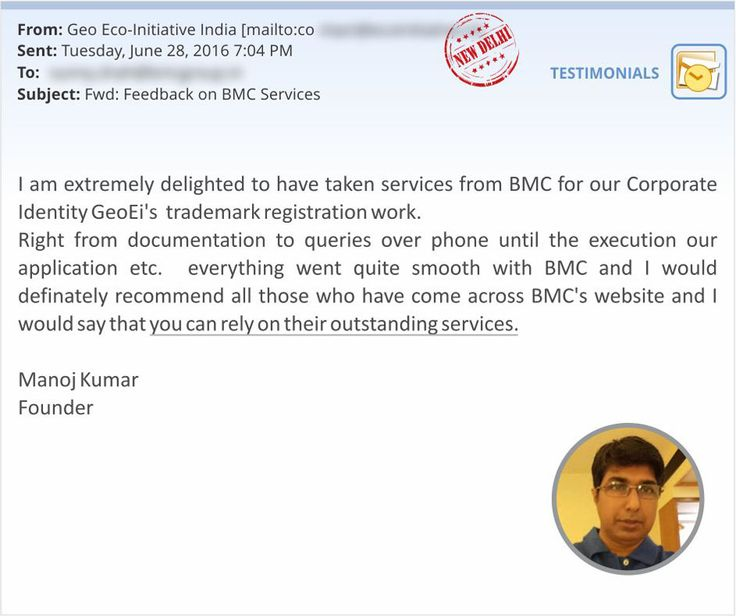 Here's another reason for us to smile wide!  Mr. Manoj Kumar, Founder, Geo Eco-Initiative are all praise of our Trademark Registration Service! Thank you, Mr.Manoj Kumar! Wish you and Geo Eco-Initiative all the best from Team Startupwala!  #Startups #OnlineLegalServices #HappyClients