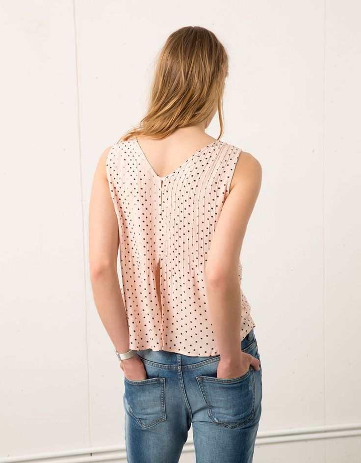 Camisa Bershka plisada botones espalda - Camisas & blusas - Bershka España