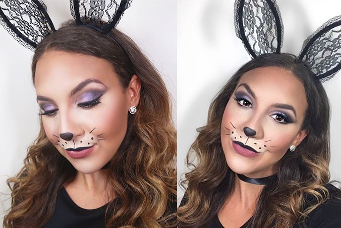 Glam Bunny Halloween Makeup Look Makeup By Caitlyn Michelle Bunny Halloween Makeup Bunny Makeup Halloween Makeup Looks