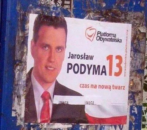 Dacie mu szansę? Może Was nie wydyma... ;)  EDIT: Poprzednie wybory. #wybory2014 #wyborysamorzadowe2014 #plakatwyborczy