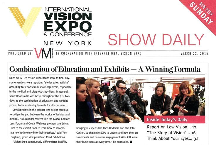 My team stars of Vision Expo!