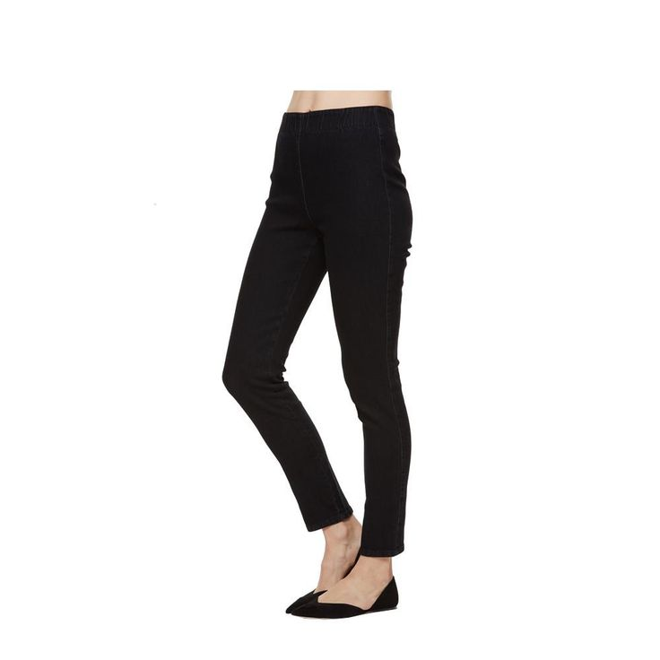 Joan Vass Slim Blue Ankle Stretch Jean