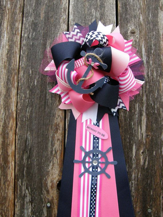 Pink Nautical Baby Shower Mu