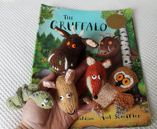 Ravelry: Big Gruff Monster and Friends Finger Puppets pattern by Lindsay Mudd