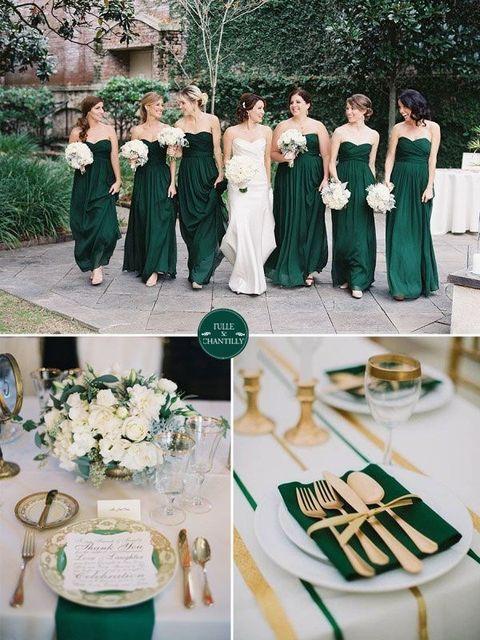 Fall Inspiration: 60 Jewel-Toned Wedding Ideas | HappyWedd.com