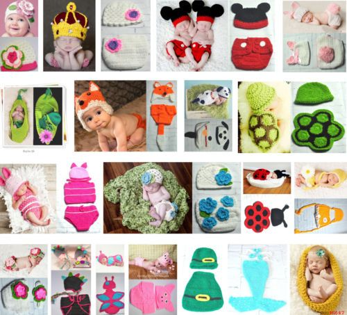 Newborn-Baby-Girl-Boy-Crochet-Knit-Costume-Photo-Shoot-Prop-Hats-Outfits-Sweater