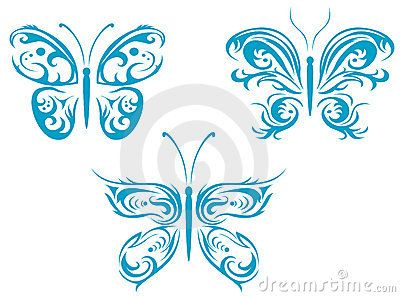 Butterfly tattoos by Seamartini, via Dreamstime