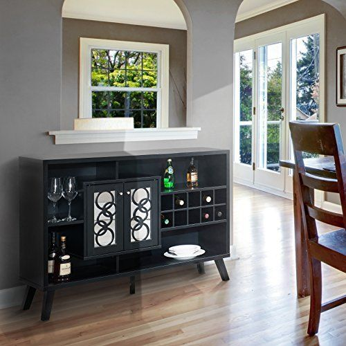 LIQUOR STORAGE Cabinet BUFFET Server with GLASS Doors Large in Cappuccino – Great for Storage of Your Favorite Bottles of Wine, Liquors, Glassware and Drinking Accessories.Holds 10 standard-size wine bottles 4 open shelf compartments. Assembly required Measures 33.25 inches high x 47.25... more details available at https://furniture.bestselleroutlets.com/game-recreation-room-furniture/home-bar-furniture/bar-wine-cabinets/bar-cabinets/product-review-for-liquor-storage-ca