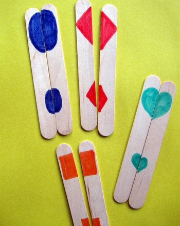 A great way to match up partners; put them in a box and have each child randomly pull out a stick.