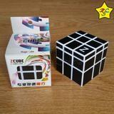 Cubo Rubik Mirror 3x3 Zcube 3x3 Carbono - mod3 - Blanco Y Negro