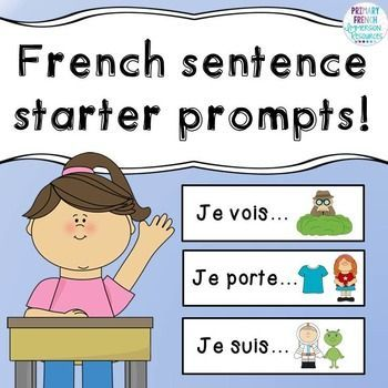 French sentence starter promptsIncludes:- 20 sentence starters/prompts to help with oral communication and sentence generation in French classrooms (French Immersion or Core French) Suggestions for use:- Let students pull one card at a time to prompt a conversation as a class- Choose one each morning as part of a morning routine- Add as a centre to use with partners- Use in your writing centre for writing ideas- Introduce one card a week to build your students' bank of starters Please email…
