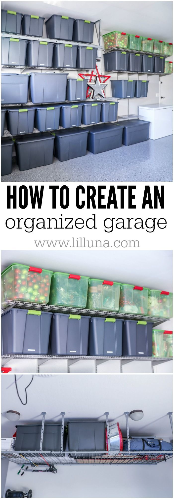 Tips and Tricks for creating an organized garage! It's so nice having order and knowing where everything is in the most neglected area of the house.
