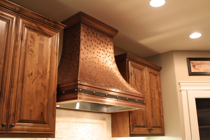 Copper Range Hood With Stainless Steel Insert A Nice Combination Rangehood Copper Kitchen