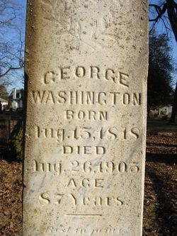 George Washington is well known as the African American founder of Centerville now Centralia, Washington.  Washington Lawn Cemetery, Centralia, Washington
