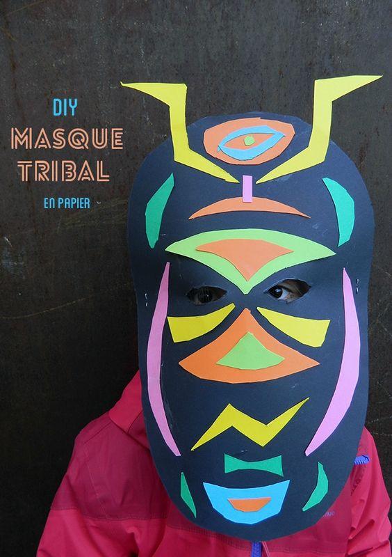 masque en papier,activité enfant,carnaval,déguisement,DIY,tuto,réaliser un marsque avec les enfants,activité pour enfant,poc a poc 3