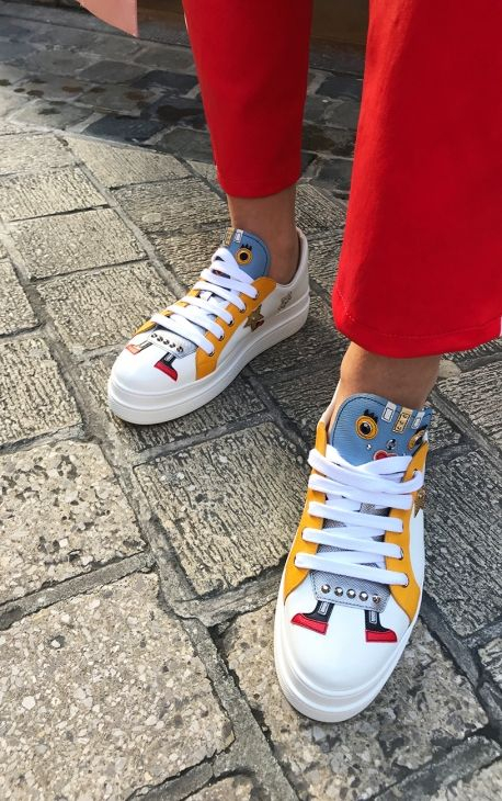 3c1aecf254f3 White Robot Sneakers from Prada Chuck Taylor Sneakers