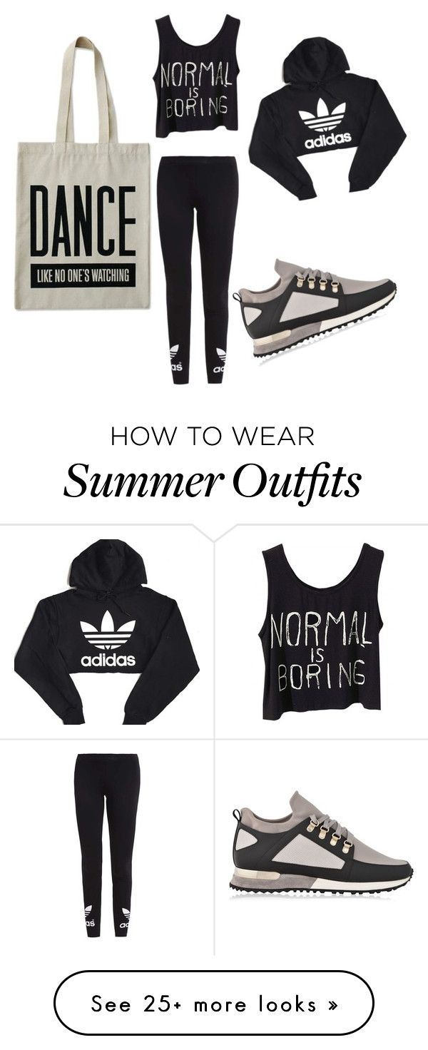 """""""Dance outfit"""" by mirol-style on Polyvore featuring adidas Originals, MALLET, ALPHABET BAGS and adidas"""