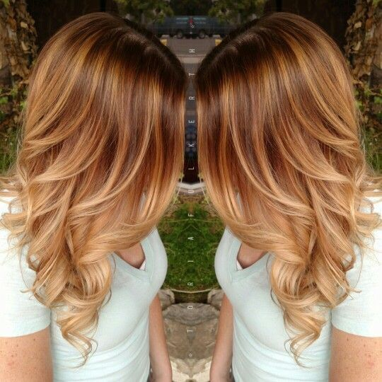 Red to strawberry blonde inspiration #knoxvilletn #salon @znevaehsalon