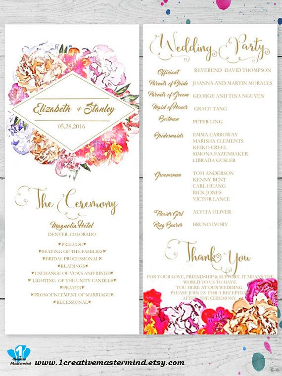 The  Best Program Template Ideas On   Wedding Program