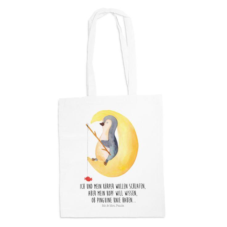 Tragetasche Pinguin Mond aus Kunstfaser  Natur - Das Original von Mr. & Mrs. Panda.  Diese wunderschöne weiße Tragetasche von Mr. & Mrs. Panda im Jutebeutel Style ist wirklich etwas ganz Besonderes. Mit unseren Motiven und Sprüchen kannst du auf eine ganz besondere Art und Weise dein Lebensgefühl ausdrücken.    Über unser Motiv Pinguin Mond  ##MOTIVES_DESCRIPTION##    Verwendete Materialien  Die verwendete sehr hochwertige Kunstfaser ist langlebig, strapazierfähig und abwaschbar und wird von…