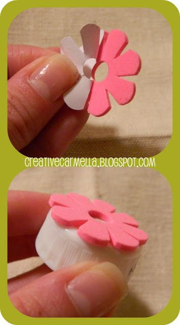 Creative Carmella: Dollar Section Crafts......Bottle Top Stamp