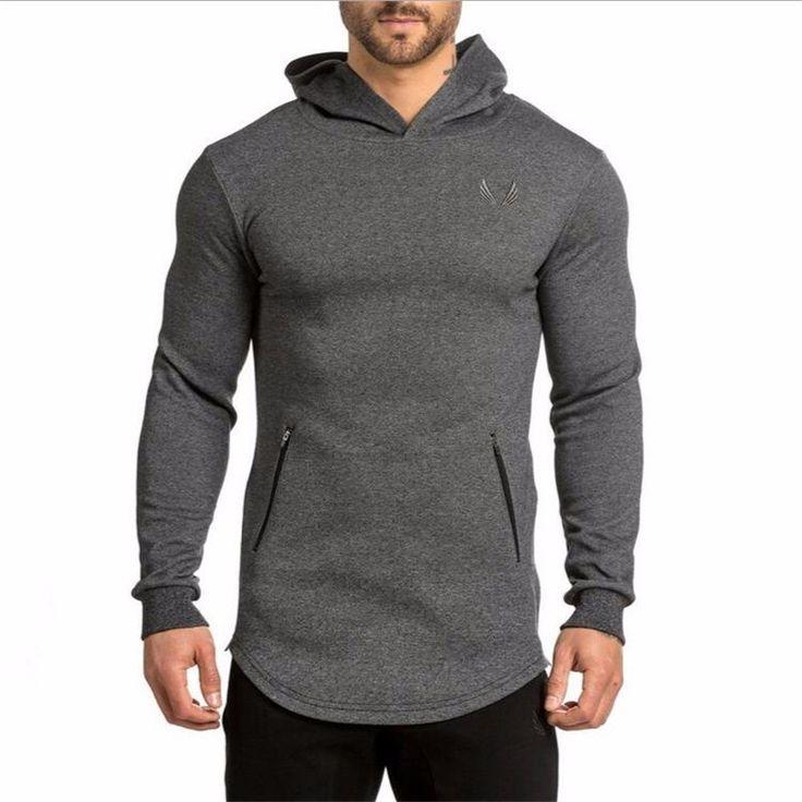Mens Slim Fit Workout Sweatshirt