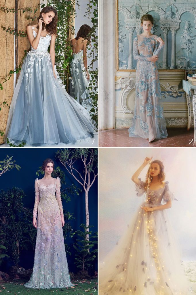 24 Magical Colored Gowns For A Fairy Tale Wedding Romantic