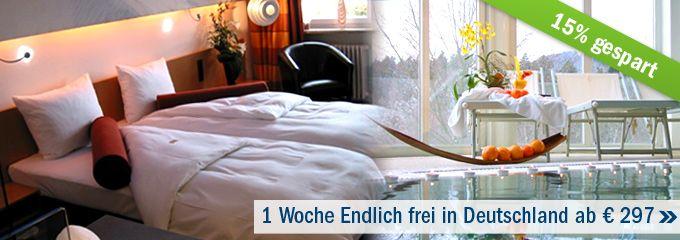 """Deal der Woche: 1. Woche """"Endlich frei"""" in Deutschland im Resort Die Wutzschleife ab 297 €. Entspannung im Bayerischen Wald zum Schnäppchen Preis.  http://www.fitreisen.de/angebote/wellness-schnaeppchen.html #wutzschleife #bayerischerwlad #angebot #urlaub"""