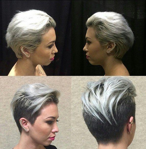 Wit, zilver, lichtblond, platina, grijs…. 16 lichtkleurige razend populaire korte kapsels