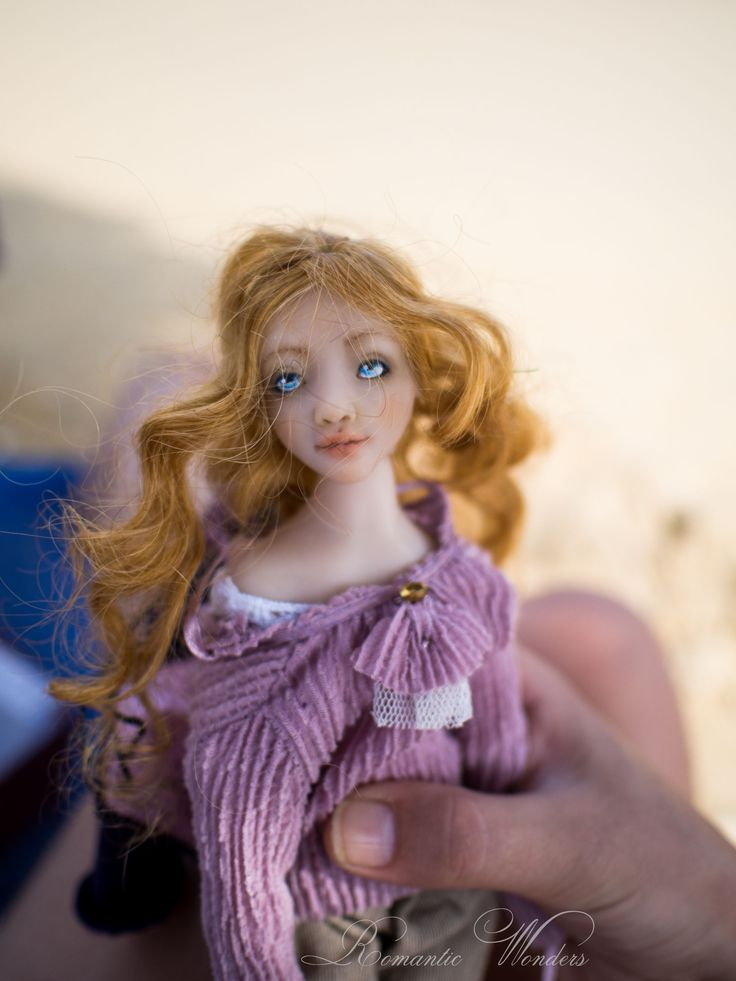 Art doll ''Kira and the dog'' by Romantic Wonders