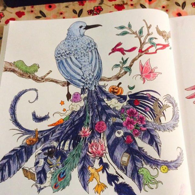 Started And Finished Tonight Adultcoloring Adultcolouring Animorphia Polychromos Fabercastell Addicted