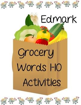 The Words And Pictures In This Packet Are Associated With The Edmark  Functional Word Series    Grocery Words