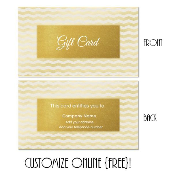 Free printable gift card templates that can be customized online - gift card template