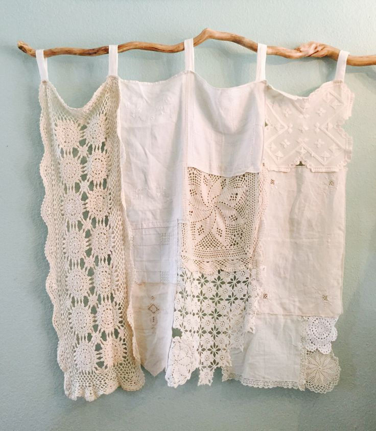 A personal favorite from my Etsy shop https://www.etsy.com/listing/463247531/vintage-doily-linens-gypsy-cafe-curtain