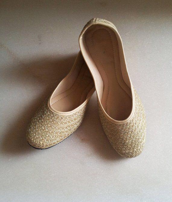 f767e60c079 Gold Flats Champagne Flats US Size 6 Nude Wedding Flat Beige Women Ballet  Flats  Bridal shoe Wedding