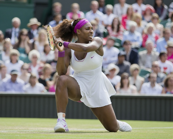 Serena Williams (Washington Kastles) during her third round match at the 2012 Wimbledon Championships.