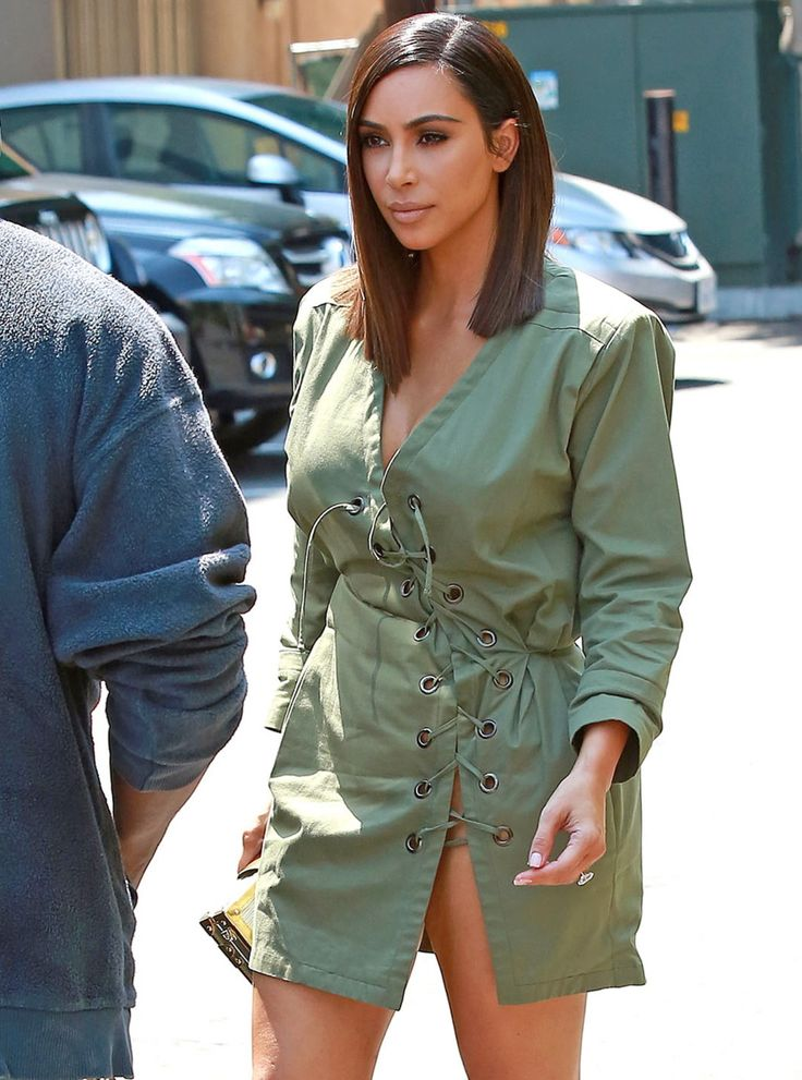Cele|bitchy | Kim Kardashian debuts a sleek new lob style: is this a wig or a real haircut?