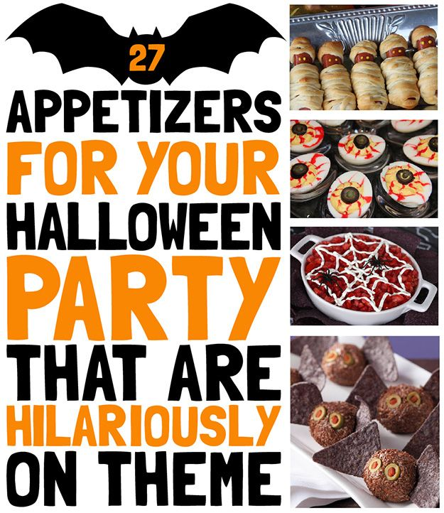 27 Appetizers For Your Halloween Party That Are Hilariously On Theme: